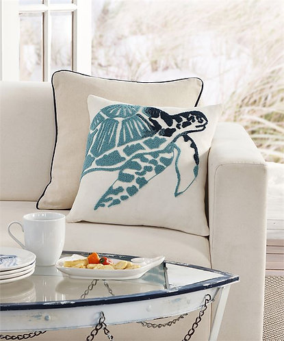 Melbourne Collection- decorative sea turtle throw pillow