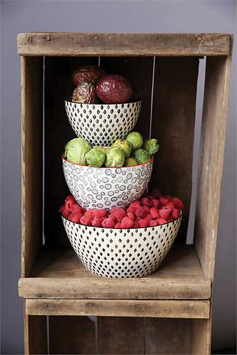 Palmetto Collection- stoneware stacking bowls
