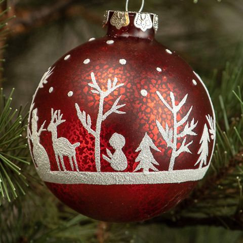 Holly Jolly Collection- snowman silhouette ornament
