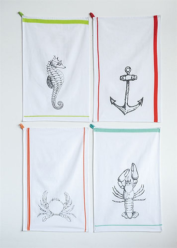 Riviera Collection- coastal kitchen towels