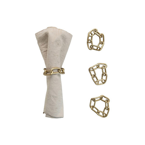 Delray Collection- gold chain napkin holders
