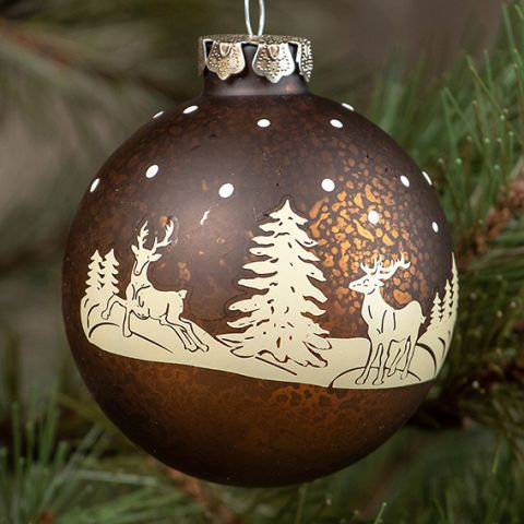 Holly Jolly Collection- deer silhouette ornament