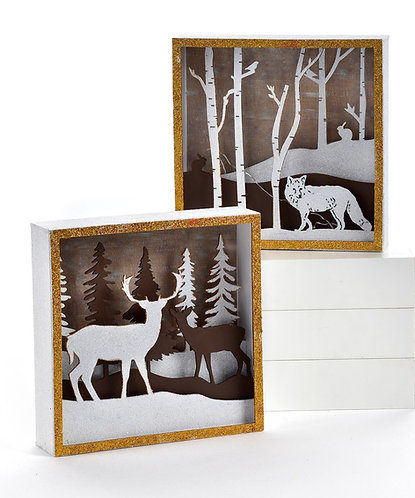 Winter Wonderland Collection- LED woodland scene