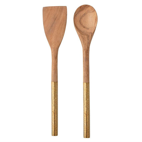 Palm Beach Collection- wood & gold spoons