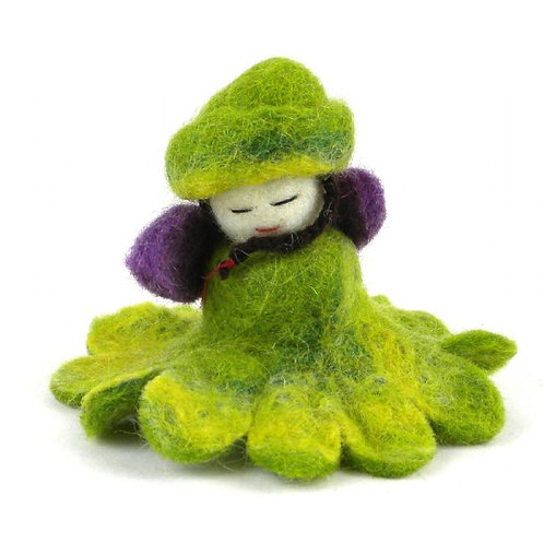 Enchanted Collection- felted jade flower fairy