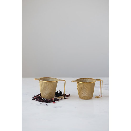 Palm Beach Collection- gold finish tea leaf strainer