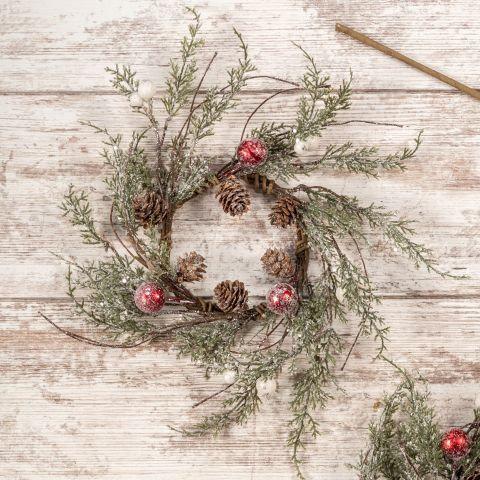Winter Wonderland Collection- holiday mini pine wreath