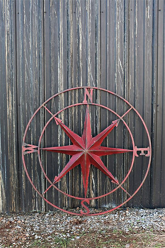 Biscayne Collection- red compass wall decor