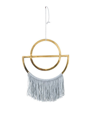 Ft. Lauderdale Collection- brass and fringe wall decor