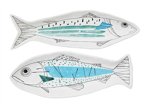 Pompano Collection- modern fish plate