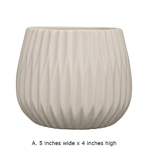 Miami Collection- white geometric planters