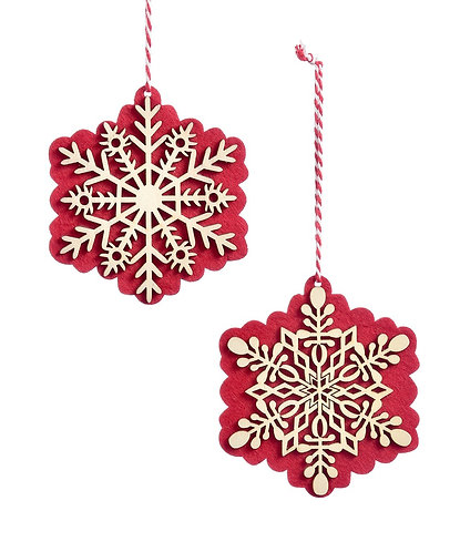 Nordic Collection- snowflake ornaments