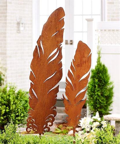 Palmetto Collection - feather garden stakes