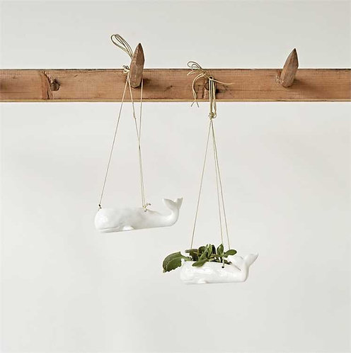 Pompano Collection- hanging whale planters