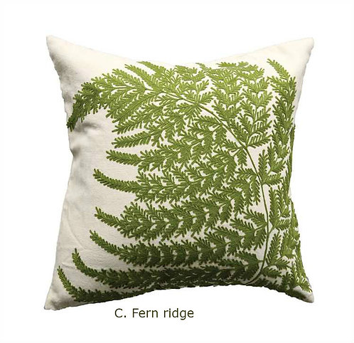 Stoneman Douglas Collection- embroidered verde pillows