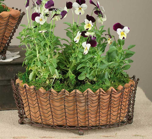 Collection- terra cotta basket planter