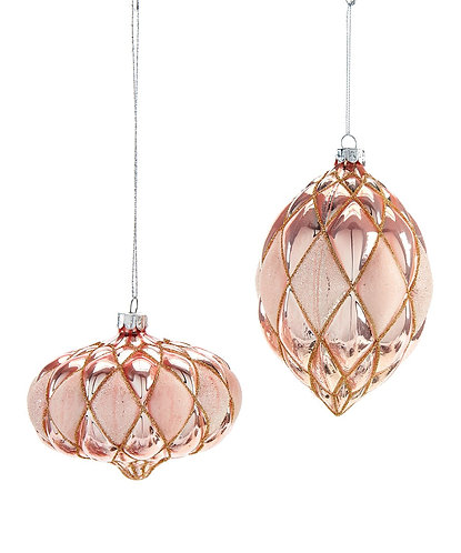 Vintage Collection- pink glass ornaments