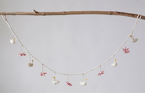 Enchanted Collection - swan and flowers garland