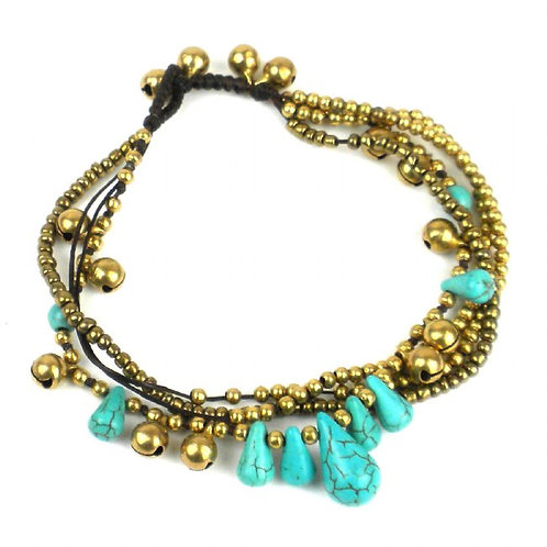 Miami Collection - turquoise anklet