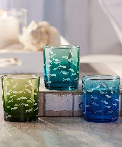 Pompano Collection- glass tealight votives