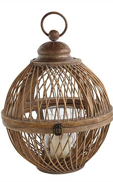 Lighthouse Point Collection- Bamboo hanging lantern