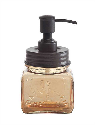 Homestead Collection- amber glass soap dispenser