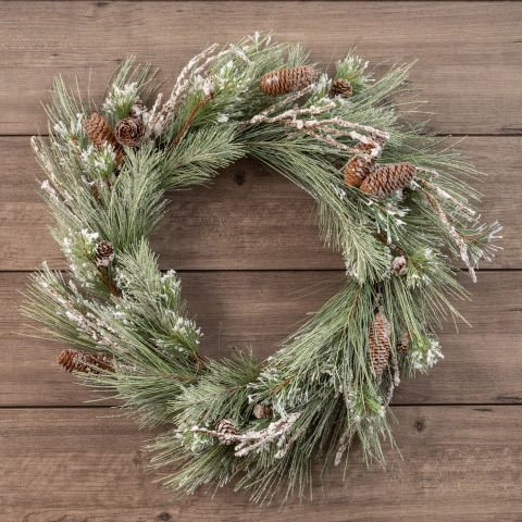 Winter Wonderland Collection- snowy pine holiday wreath