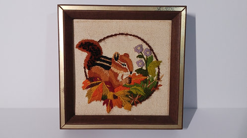 Woodlands Collection- Chipmunk Crewel Needlepoint