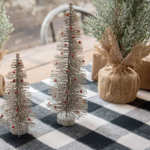 Winter Wonderland Collection- silver bottlebrush trees