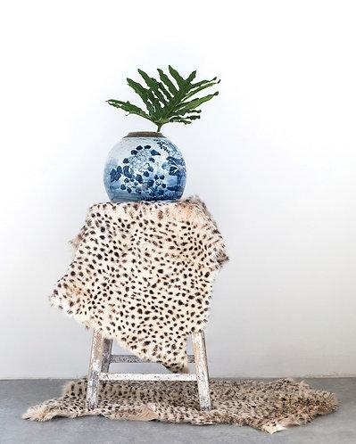 Palm Beach Collection- faux leopard fur throw