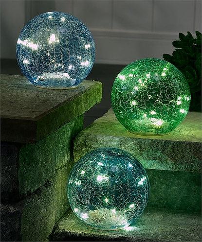 Biscayne Collection - illuminated glass garden balls