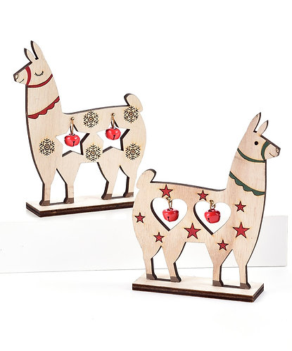 Nordic Collection- wood alpaca decorations