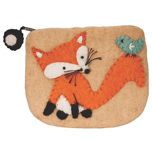 Forest Collection- fox felted coin purse