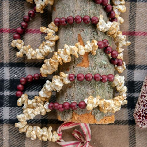Holly Jolly Collection- popcorn and cranberry holiday garland
