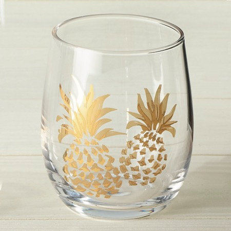 Riveria Collection- gold glamour sea life tumblers