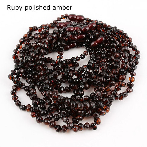 Classic Collection - polished amber teething necklaces