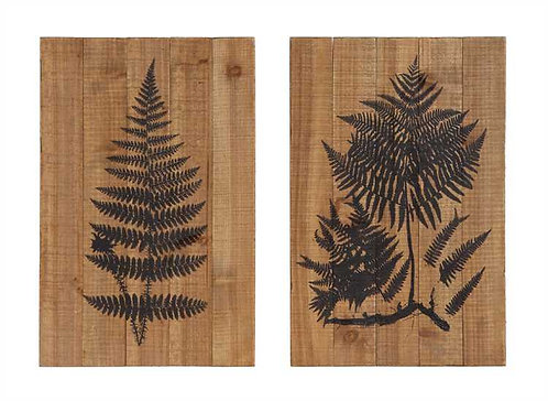 Stoneman Douglas Collection- wood fern wall decor