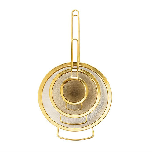 Palm Beach Collection- gold finish strainers
