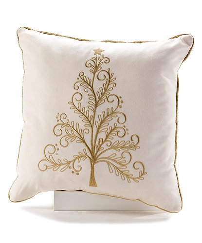 Winter Wonderland Collection-  gold Christmas tree pillow case