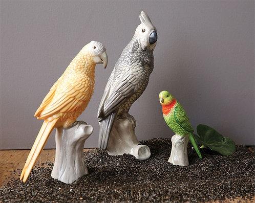 Miami Collection- ceramic gray cockatoo