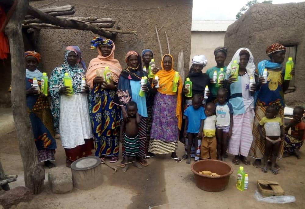 ONU Femmes donó material higiénico a Kanso