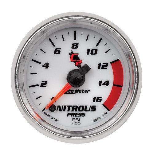 AUTO METER C2 SERIES NITROUS PRESSURE GAUGE 7174