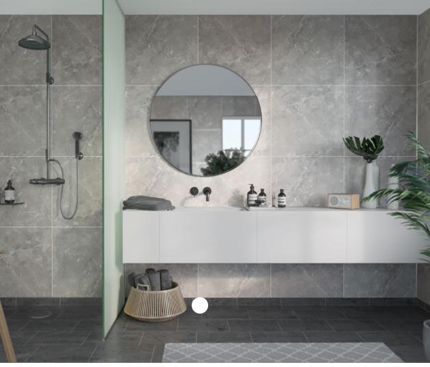 Silver Grey Marble Scandinavian Tile Effect