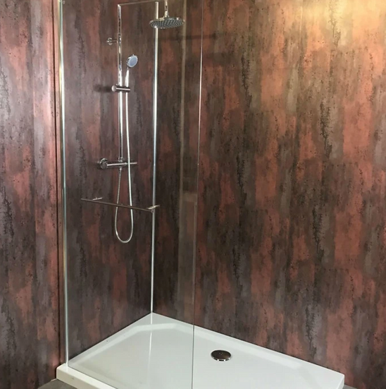 LARGE BRUSHED COPPER SHOWER PANEL 1.0M X 2.4M