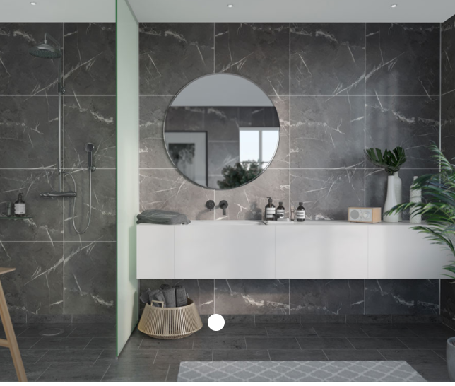 Black Marble Scandinavian Tile Effect