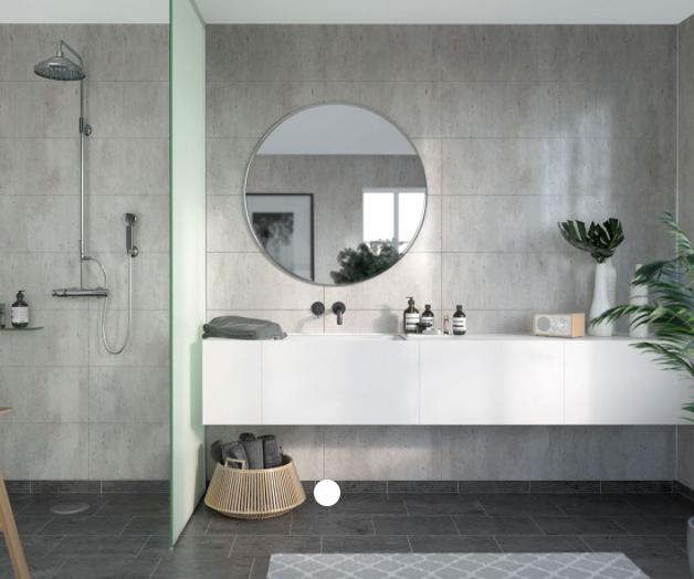 Cracked Cement Industrial Scandinavian Tile Effect