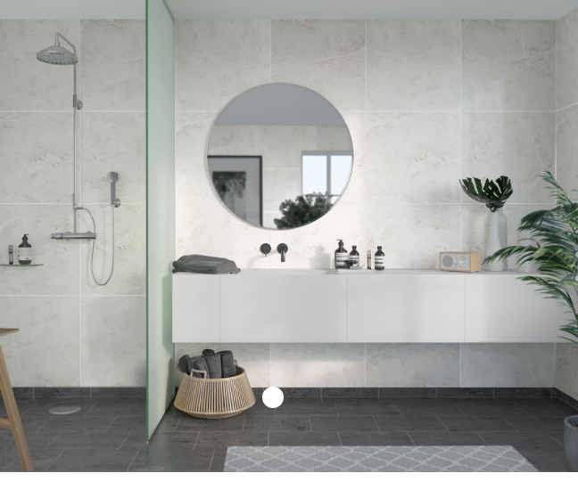 White Marble Scandinavian Tile Effect