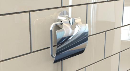 Waterbury covered toilet roll holder