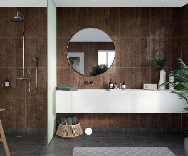 Rough Wood Scandinavian Tile Effect
