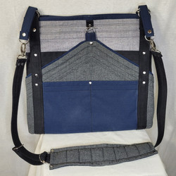 Blue/Grey Deco-Inspired Bag